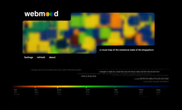 webmood home page screen grab